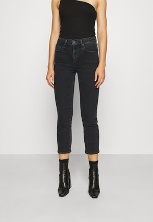 724 HIRISE STRAIGHT CROP - Straight leg -farkut - black denim