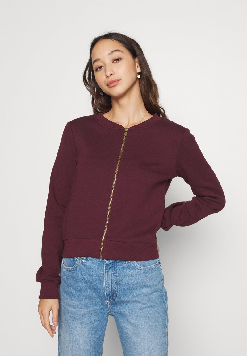 Anna Field - REGULAR FIT ZIP UP SWEAT JACKET - Zip-up hoodie - bordeaux