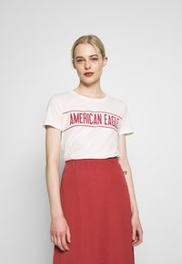 American Eagle - BRANDED HOT STORE TEE - Print T-shirt - white - 0