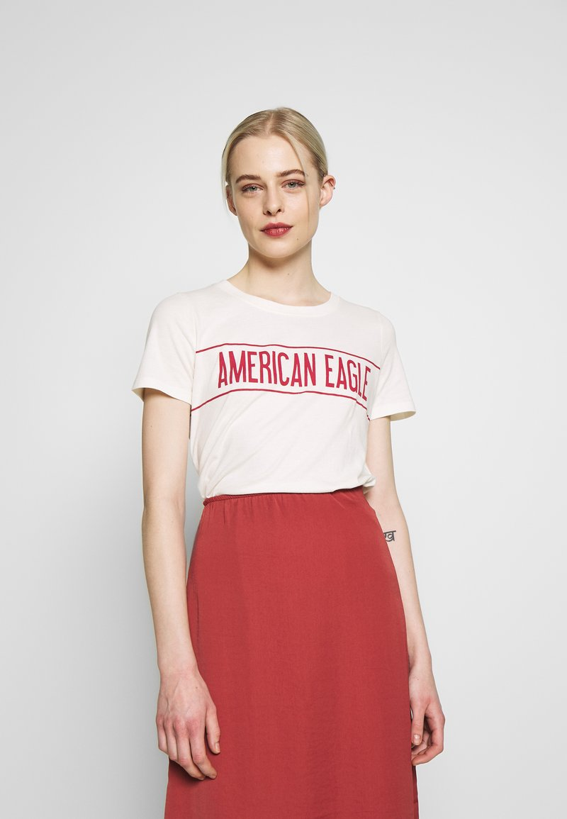American Eagle - BRANDED HOT STORE TEE - Print T-shirt - white
