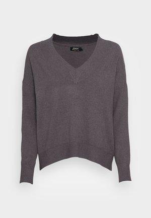 ONLCOZY V NECK - Trui - dark grey melange