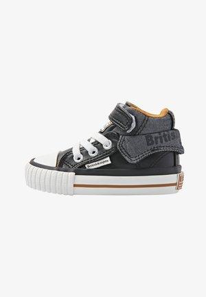 ROCO - Baby shoes - black/cognac