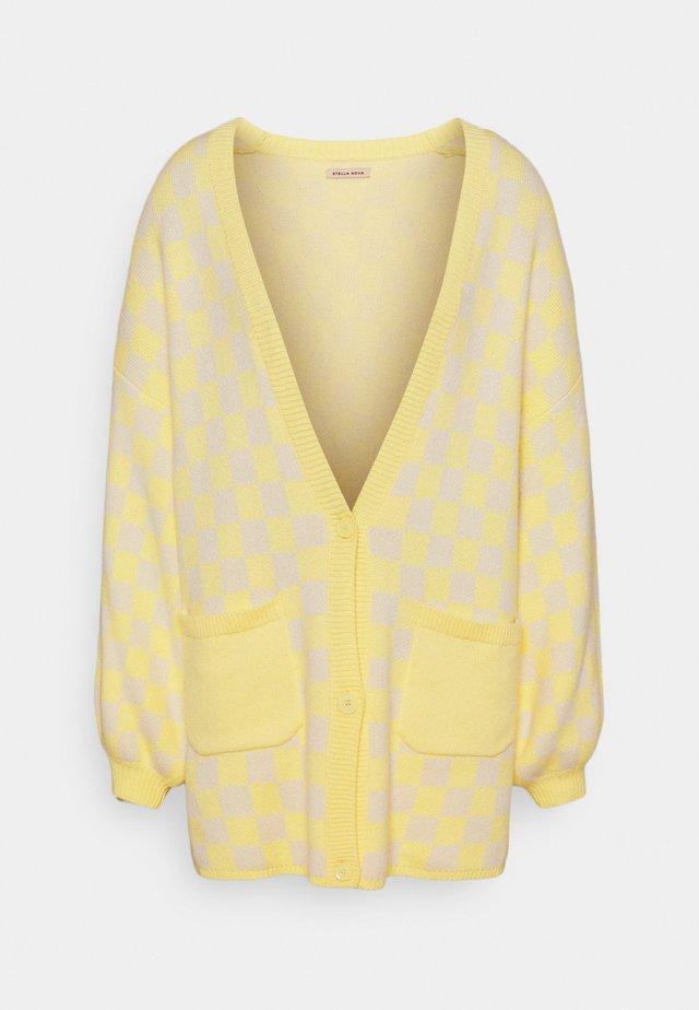 Cardigan - creme/yellow