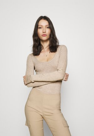 BODYSUIT - Strikkegenser - dark tan
