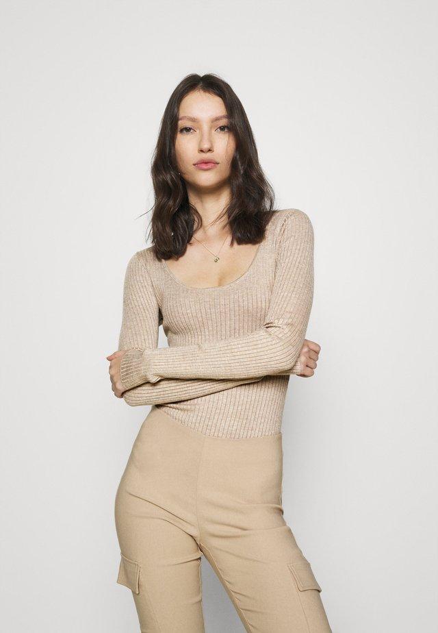 BODYSUIT - Sweter - dark tan