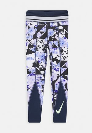 ONE - Leggings - midnight navy/black/barely volt