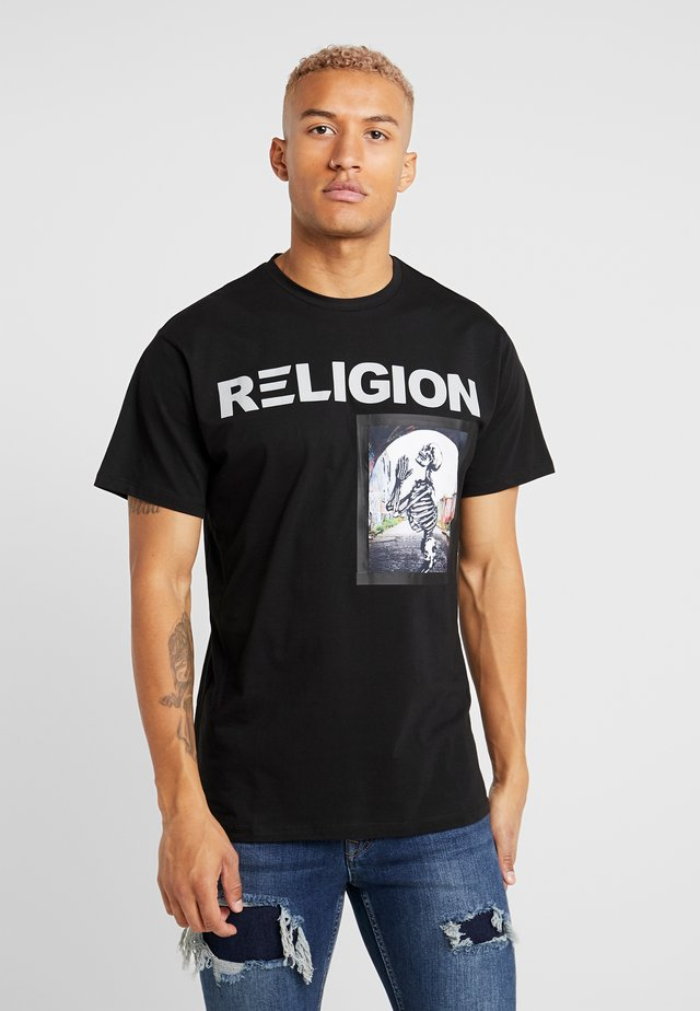 CHAPEL TEE - Camiseta estampada - black