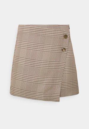 ONLGLOSS LIVI CHECK SKIRT - A-line skirt - humus/spiced apple/black
