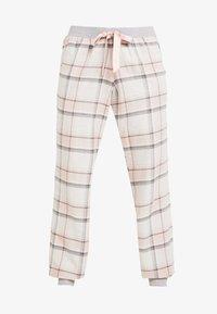 Hunkemöller - PANT TWILL CHECK CUFF - Nattøj bukser - cloud pink - 4
