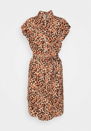 PCNYA SHIRT DRESS - Shirt dress - apricot/cream