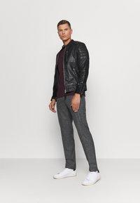 Schott - MARTIN - Leather jacket - black - 1