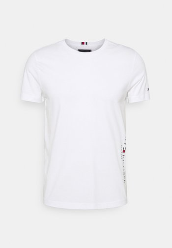 FLAG SIDE TEE - T-shirt con stampa - white