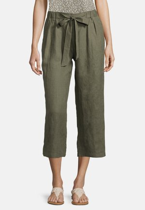 MIT BUNDFALTEN - Trousers - dusty olive