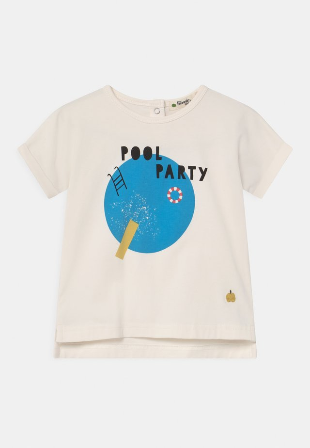 PERCY UNISEX - T-shirt print - white/blue