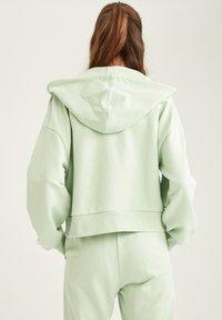 DeFacto - Zip-up hoodie - turquoise - 2