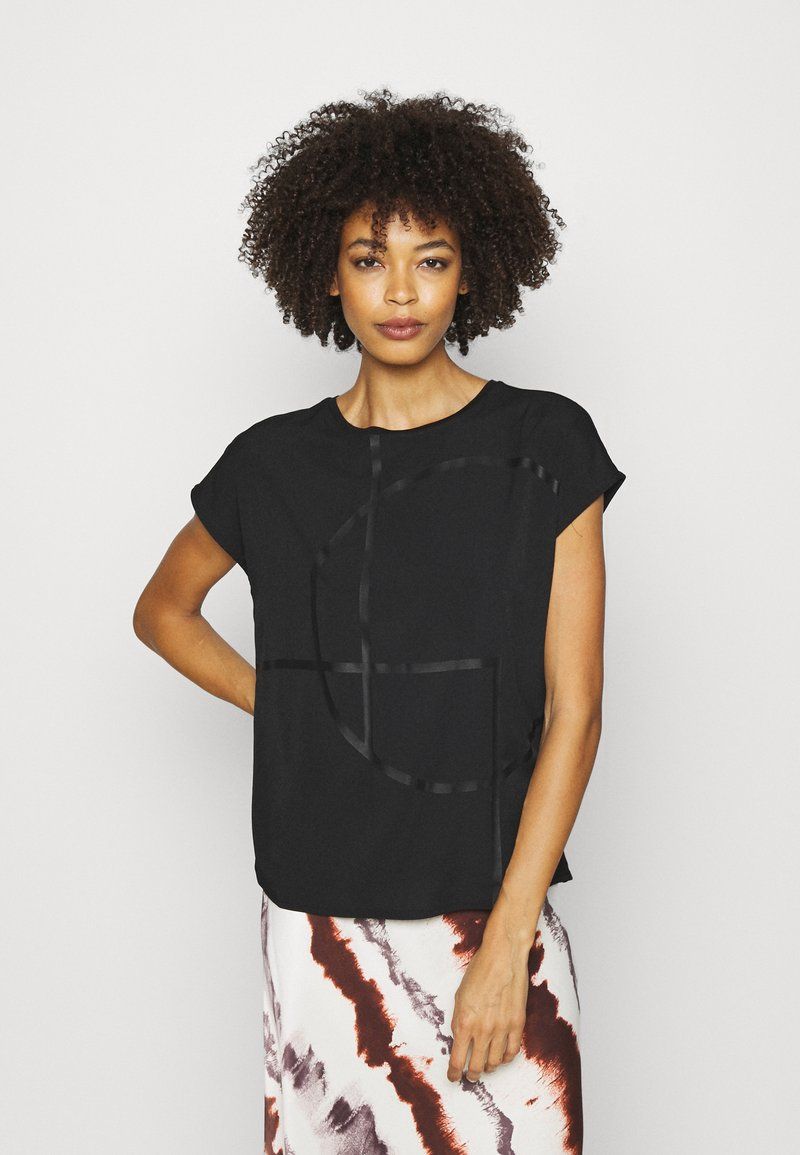 Opus - SEOMI - T-shirts med print - black