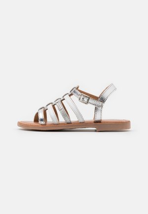 HIRSON - T-bar sandals - argent/multicolor