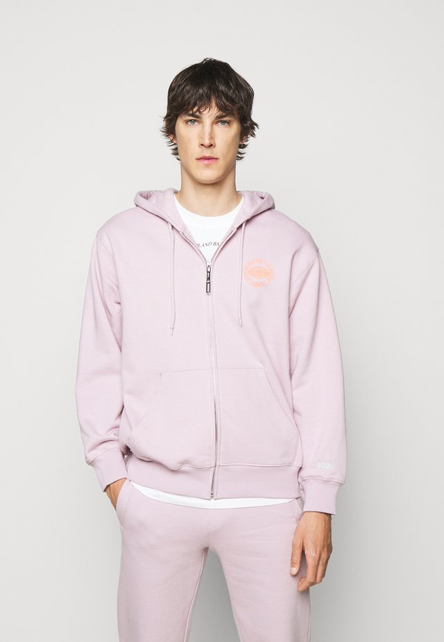 HYPNOS ZIP UP HOODIE - Felpa aperta - grey purple