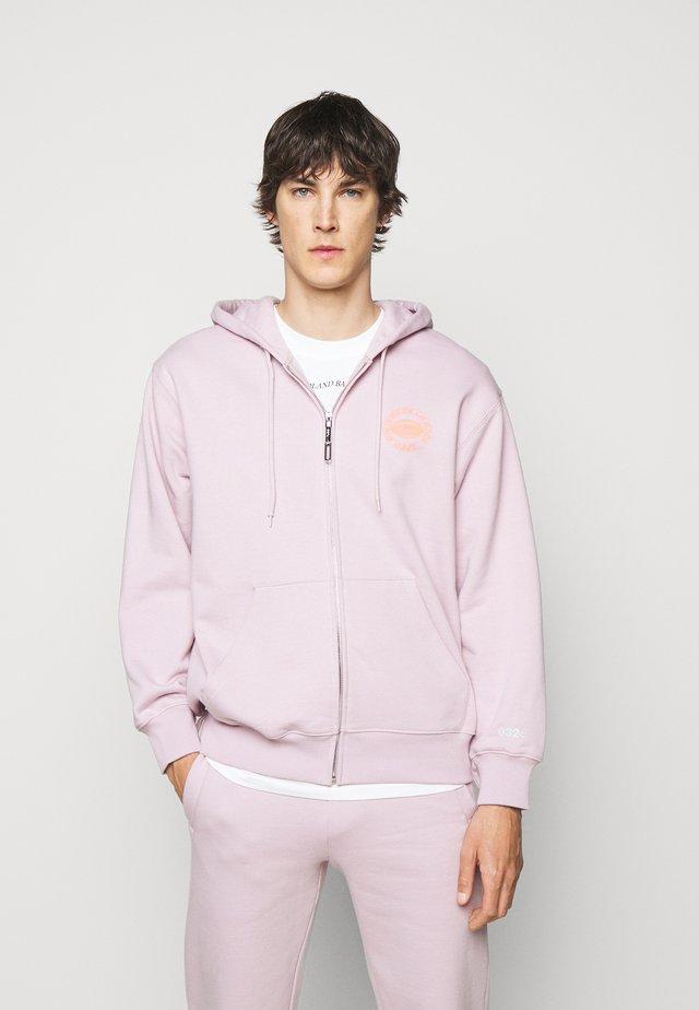 HYPNOS ZIP UP HOODIE - Mikina na zip - grey purple