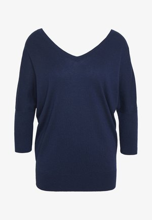 EXCLUSIVE VNECK BLEND - Maglione - navy