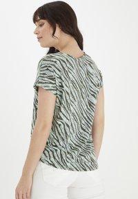 Fransa - Print T-shirt - aqua foam mix - 2