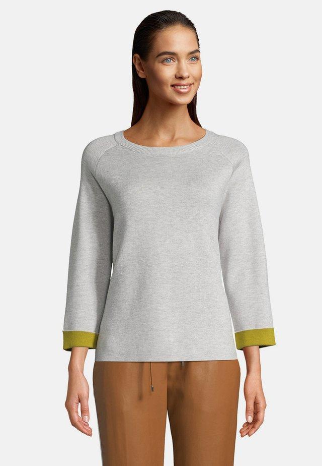 MIT ÄRMELAUFSCHLAG - Sweatshirt - light silver melange