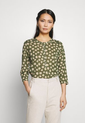 Long sleeved top - multi/soaked moss