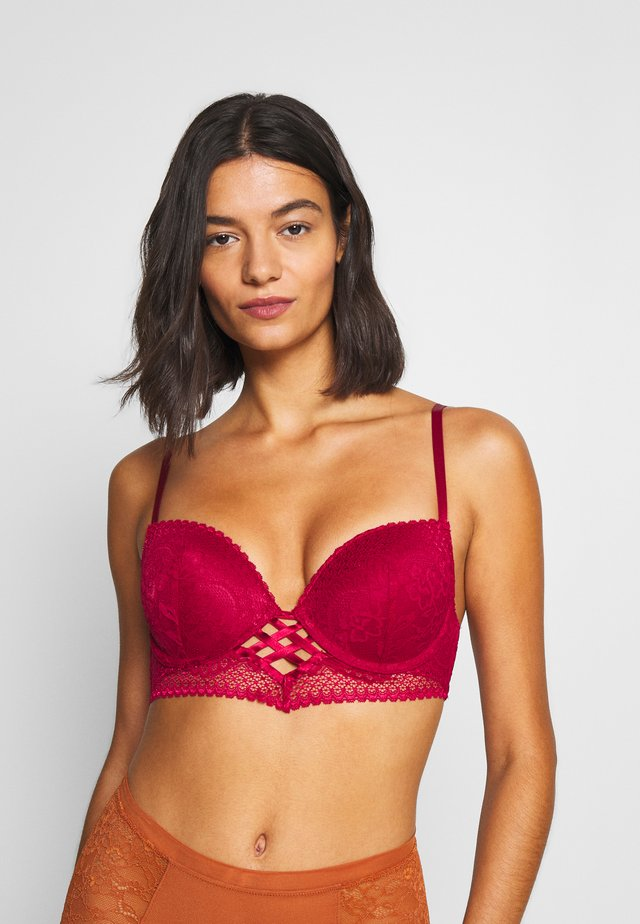 BRA - Push up -rintaliivit - red