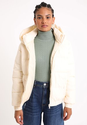 MIT KAPUZE - Winter jacket - altweiß
