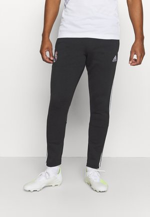 REAL MADRID SPORTS FOOTBALL PANTS - Tracksuit bottoms - black/white
