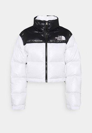 NUPTSE SHORT JACKET - Down jacket - white/black