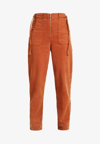 Topshop - UTILITY POCKET TROUSER - Trousers - rust - 3