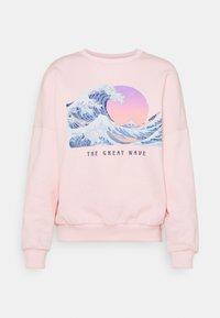 Even&Odd - Wave Printed Oversized Sweatshirt - Bluza - pink - 3