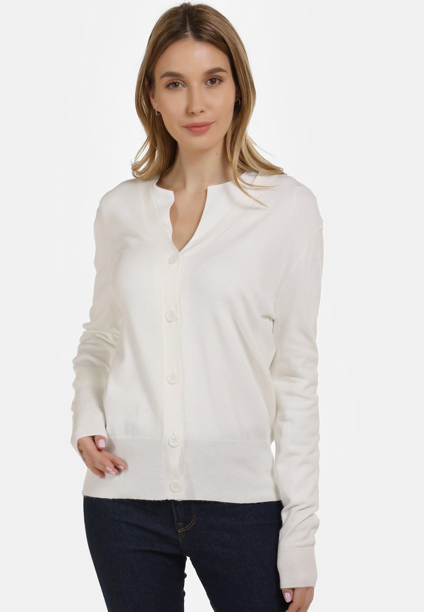 Original Women's Clothing usha Cardigan white rSfOEp70V