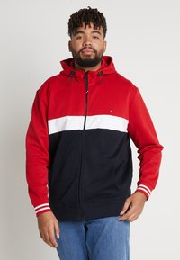 Tommy Hilfiger - COLORBLOCKD HOODED ZIP - Sudadera con cremallera - red - 0