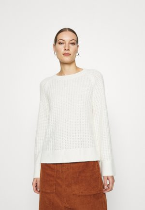 SLFFRAME CREW NECK - Jumper - snow white/melange