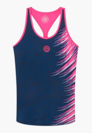CLEO TECH TANK - Topper - dark blue/pink