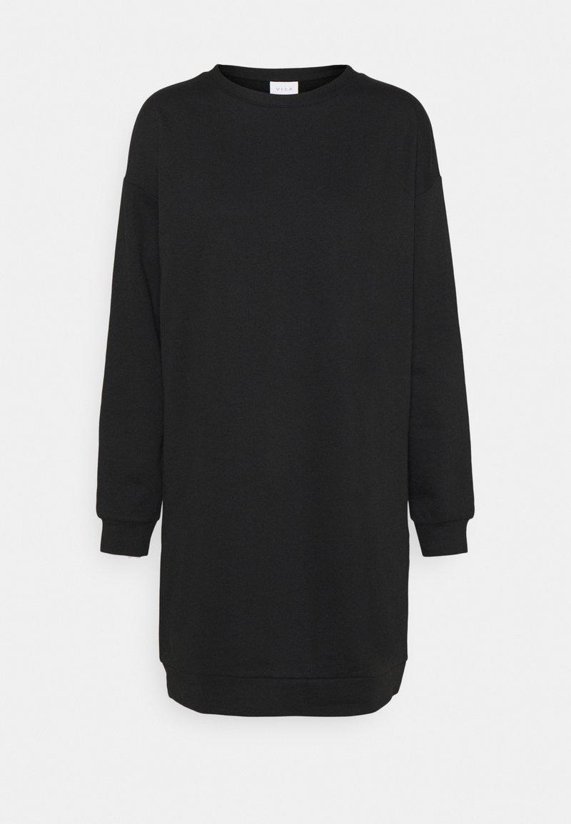 Vila - VIRUST O NECK DRESS - Day dress - black