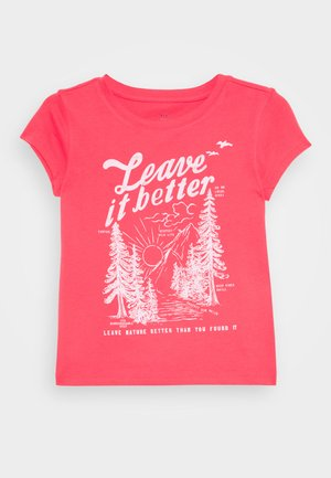 GIRLS - Print T-shirt - rosehip