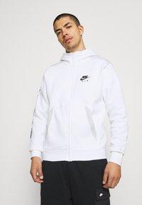 Nike Sportswear - HOODIE - Sweatjacke - white/photon dust/black - 0