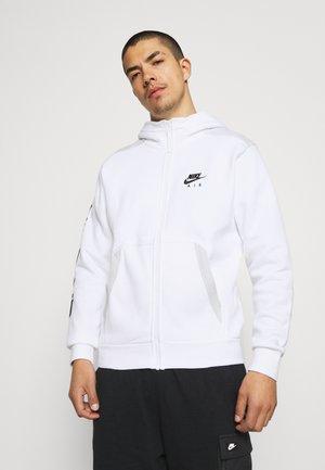 HOODIE - Zip-up sweatshirt - white/photon dust/black