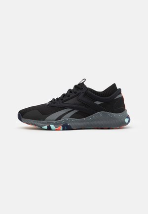 HIIT TR - Sports shoes - core black/true grey/orange fluo