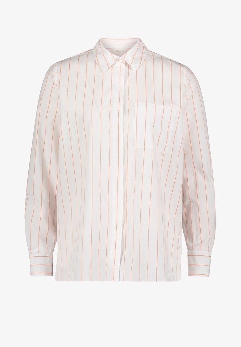 Cartoon - CASUAL - Button-down blouse - weiß/rot