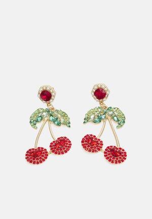 PCCHERRY EARRINGS - Earrings - gold-coloured/multi