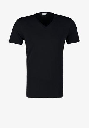 SOFT LYCRA NECK - Jednoduché triko - navy