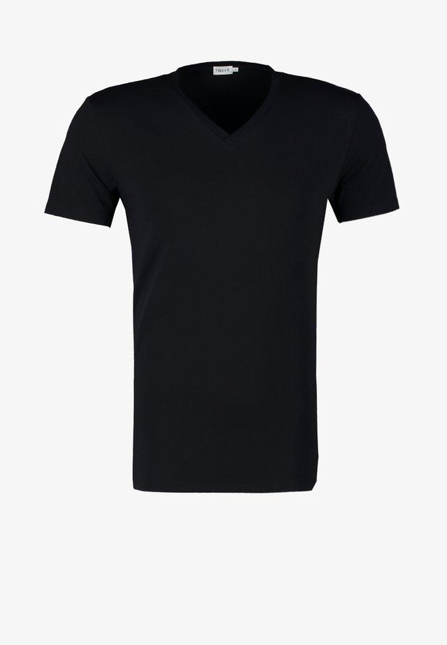 SOFT LYCRA NECK - T-shirt basic - navy
