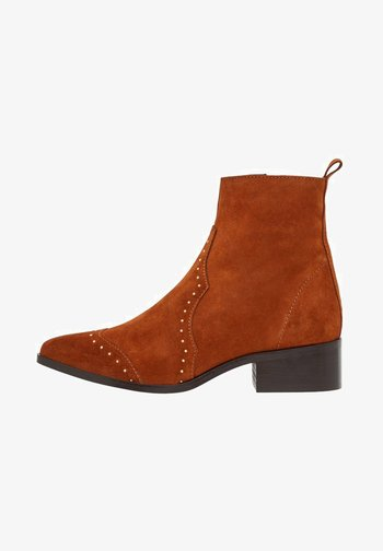 BIADORA - Cowboy/biker ankle boot - cognac