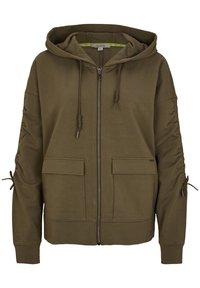 comma casual identity - Zip-up hoodie - khaki - 0