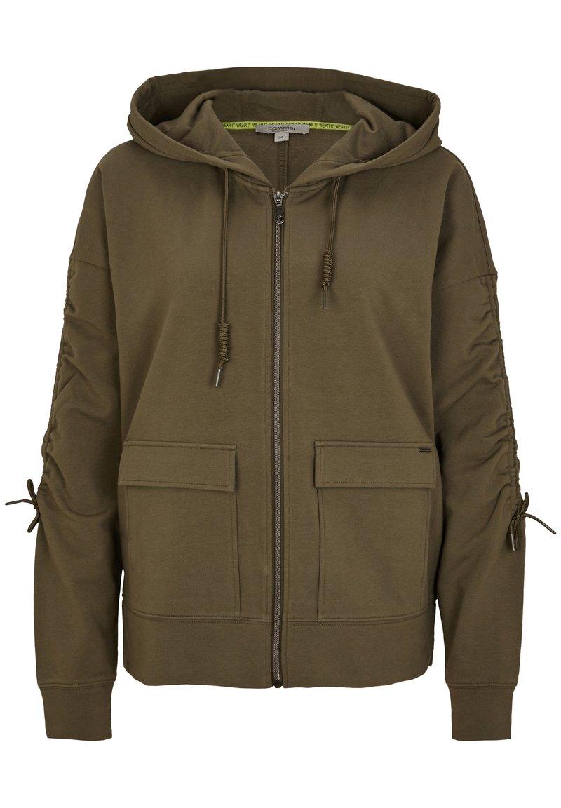 comma casual identity - Zip-up hoodie - khaki