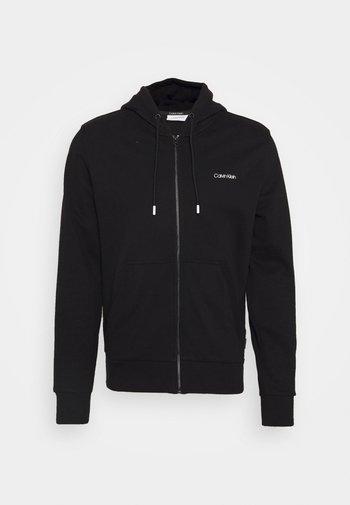 SMALL CHEST LOGO ZIP THRU - Felpa con zip - black
